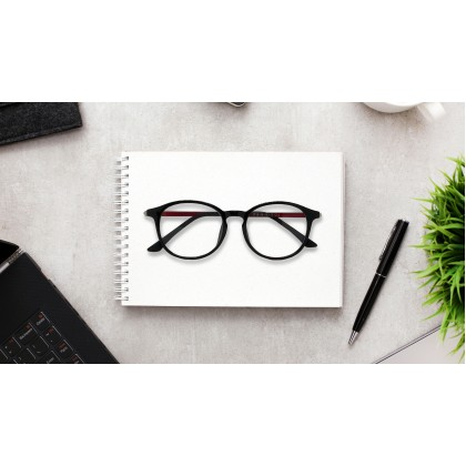 [ULTRA LIGHT] CASUAL ROUND SPECTACLES FOR UNISEX