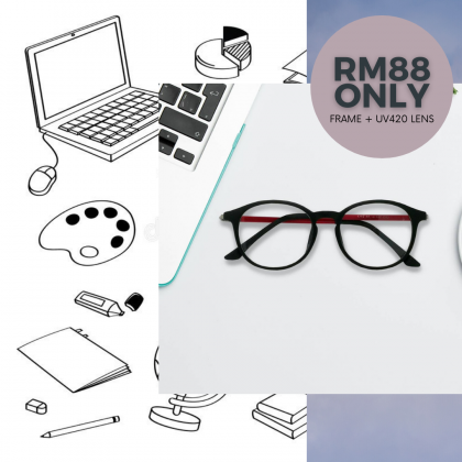 [MCO DEAL] CASUAL ROUND SPECTACLES FOR KIDS (FREE UV 420 LENS)