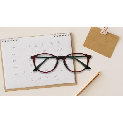 [SAMIER] CASUAL ROUND SPECTACLES (RED)