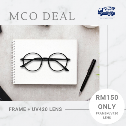 CASUAL ROUND SPECTACLES FOR UNISEX (BLACK)