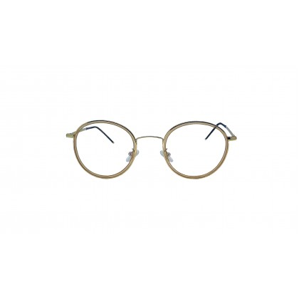 [SAMIER] CASUAL ROUND SPECTACLES FOR UNISEX (GOLD)