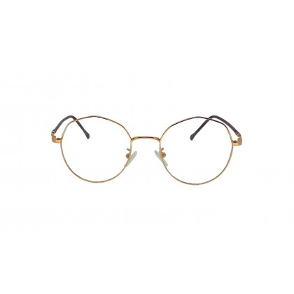 [METAL] DIAMOND SPECTACLES FOR UNISEX (GOLD)