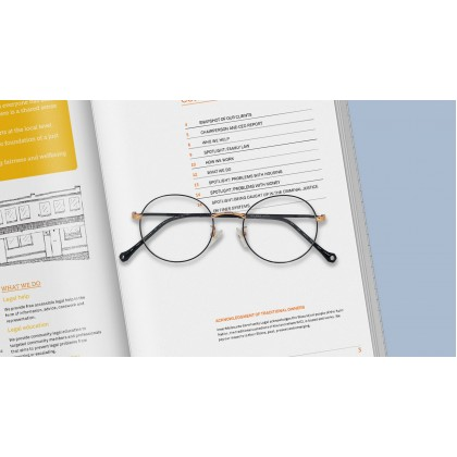 [METAL] FASHION DIAMOND SPECTACLES FOR UNISEX (GOLD & BLACK)